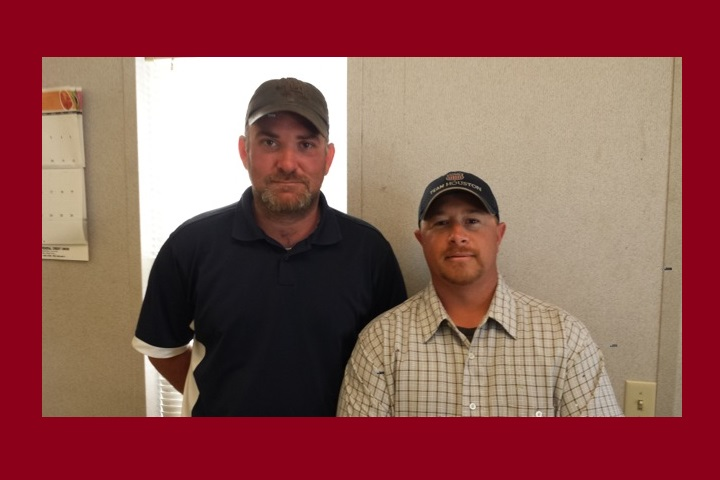 VL/C Jeremy Garmon and L/C Charles Doucet of Local 293 Baytown Branch